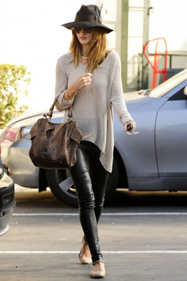 Rosie Huntington - Whiteley Street Style