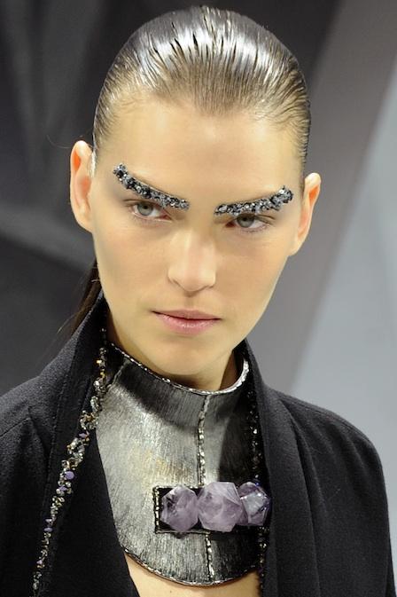 Chanel Fall 2012 Paris Fashion Week; Look - Glitter Eyebrows