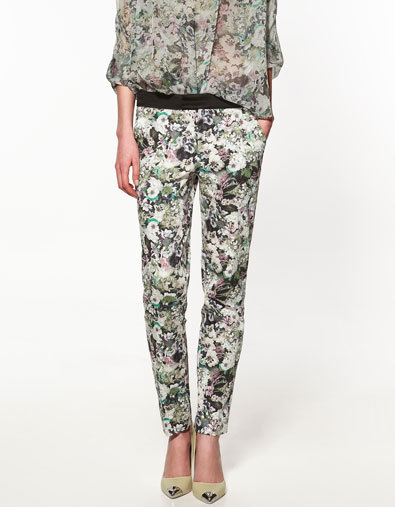 ZARA £39.99 Floral Trousers