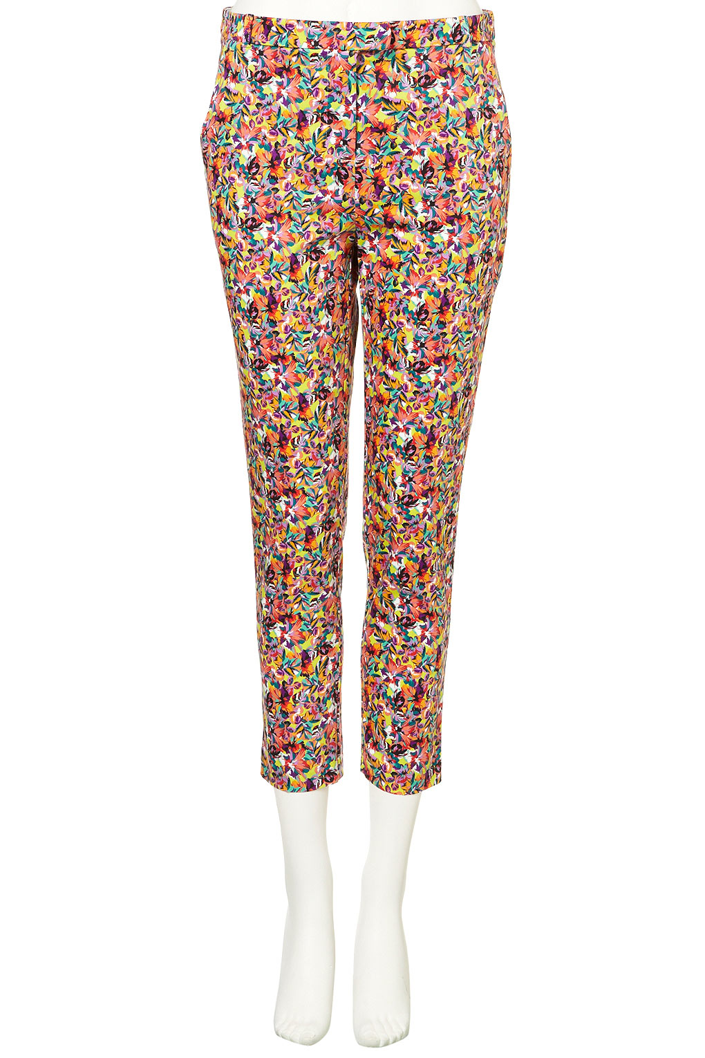 TOPSHOP £40.00 Lime Tropical Cigarette Trousers