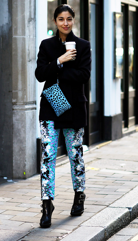 2012 London Street Spring Trend -  Floral Print Trousers