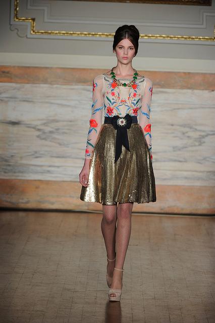 Temperley London - pleated skirt & nipped waist