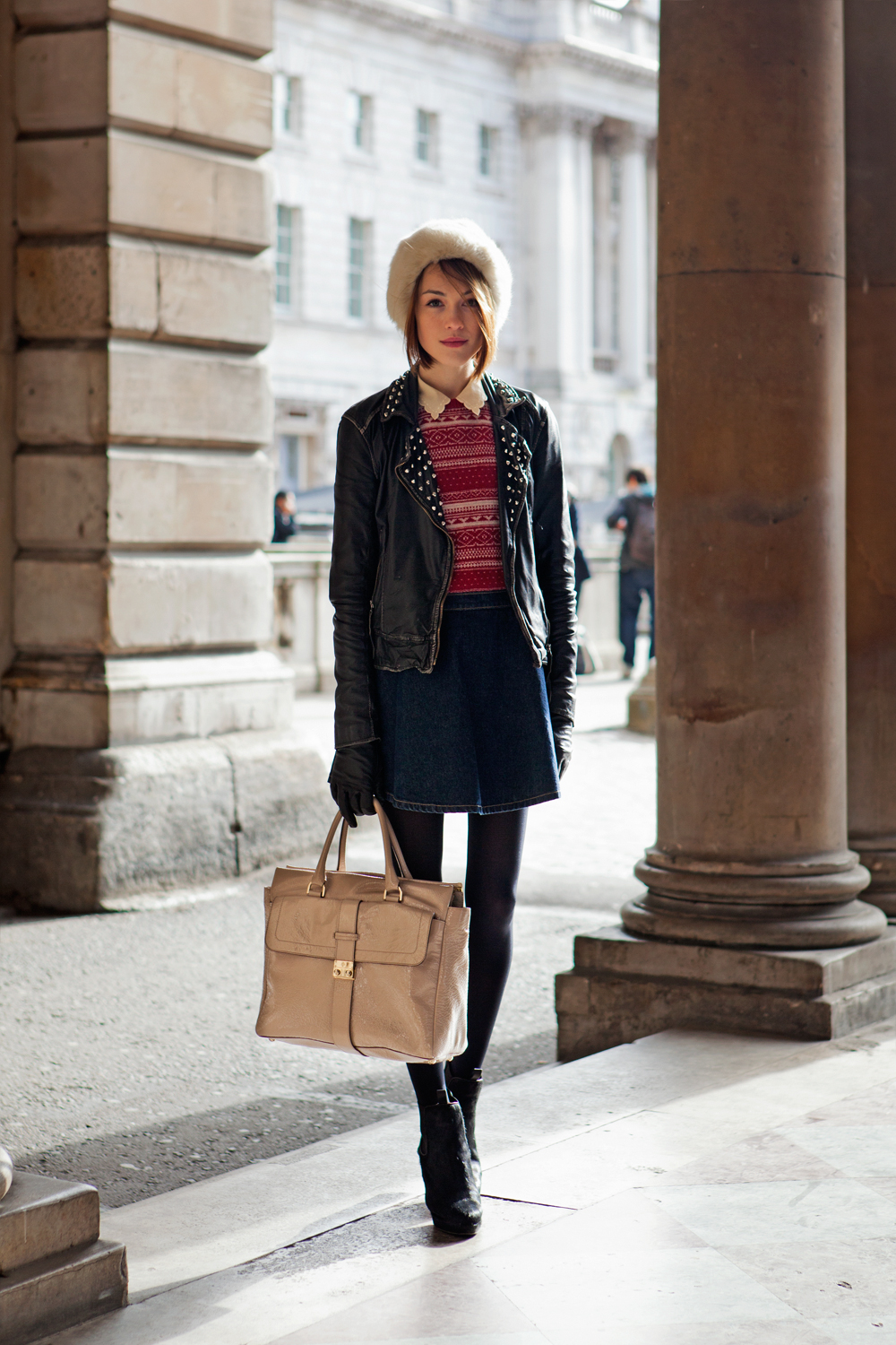 London Street Style With Camille Charrière At London: How Does London Street Style Look? Edgy. Sophisticated