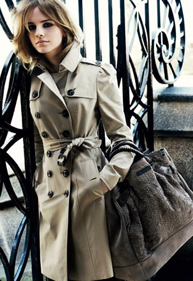 Emma Watson in Burberry Trench Coat
