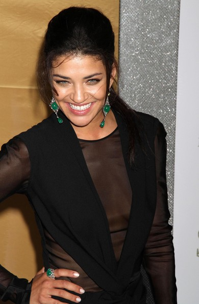 Jessica Szohr - Dangling Gemstone Earrings