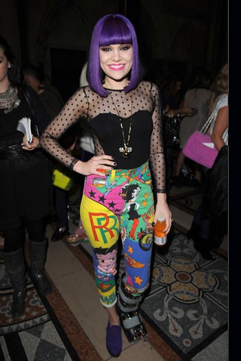 Jessie J in Print Trousers - 2012 Spring Trend