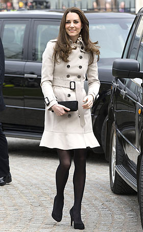 Kate Middleton in Burberry Trench Coat