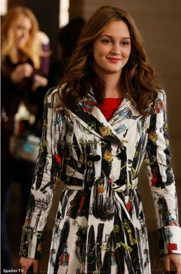 Leighton Meester in Diane von Furstanberg Trench Coat