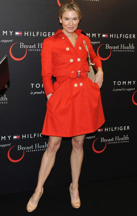 Renee Zellweger in Red Carpet Dress Trench Coat