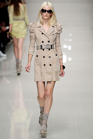 Trench Coat on runway