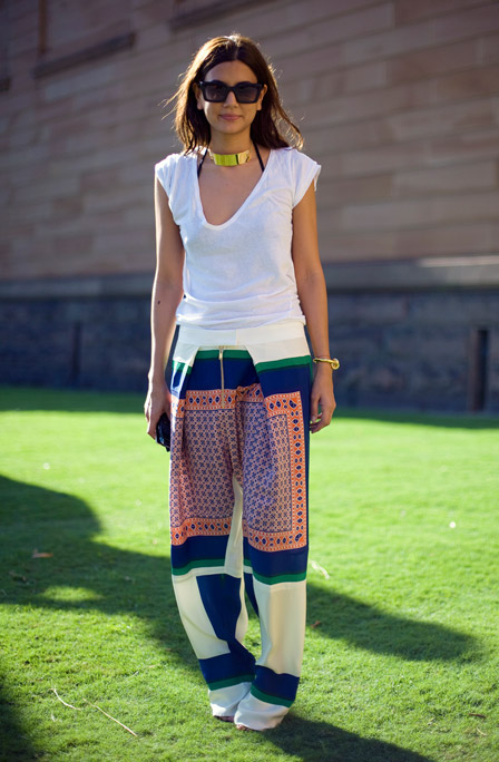 2012 Street Style - The White T-Shirt