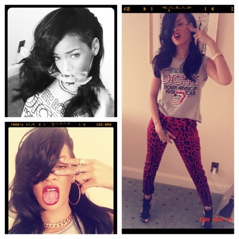 2012 Rihanna tweets pics of her as Brunette