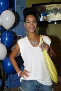 Rihanna in White T-Shirt