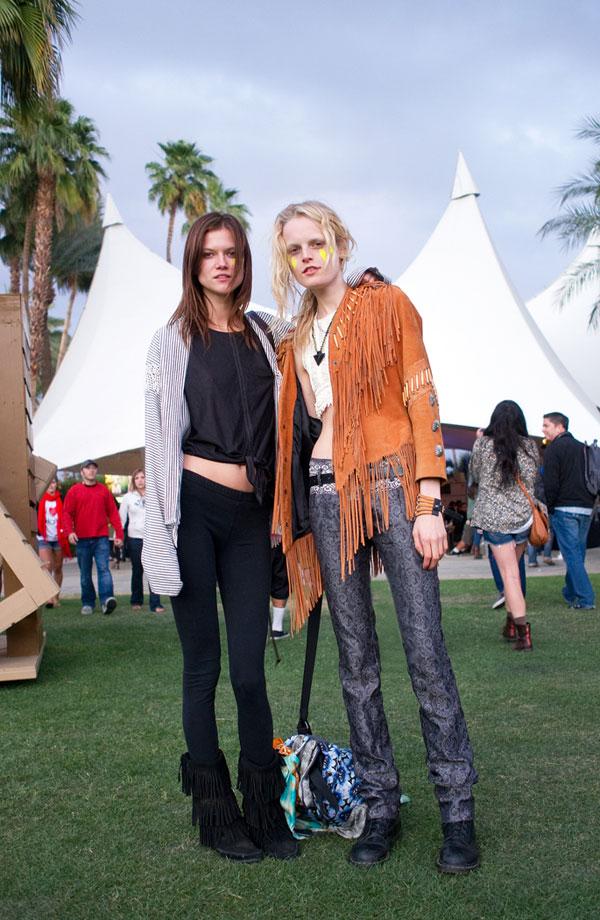 Coachella 2012 Fashion: Kasia Struss & Hanne Gaby Odiele