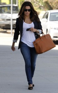 Eva Longoria in White T-Shirt