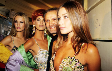 Gianni Versace, Carla Bruni, Linda Evangelista, Karen Mulder - '90s Fashion