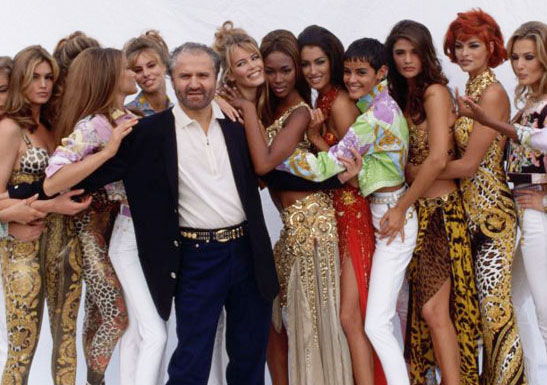 Gianni Versace & The Supermodels - '90s