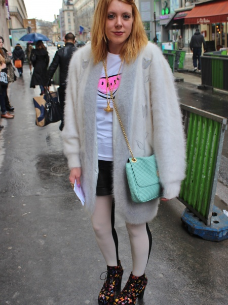 2012 London Street Style- The White T-Shirt