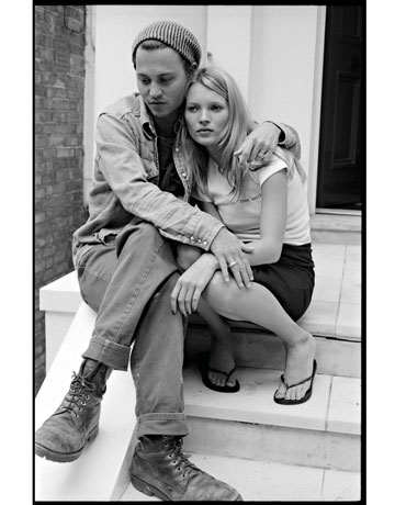 Johnny Depp & Kate Moss Grunge Style '90s