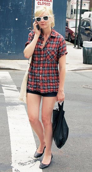 Kirsten Dunst '90s Inspired Fashion - flannel