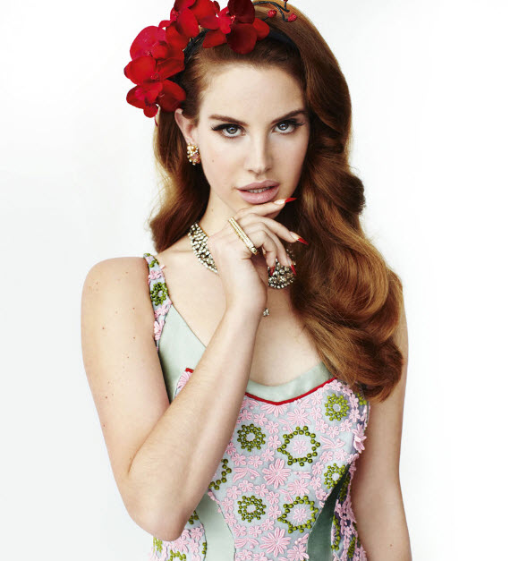 Lana Del Rey on the cover of March 2012 issue of UK Vogue