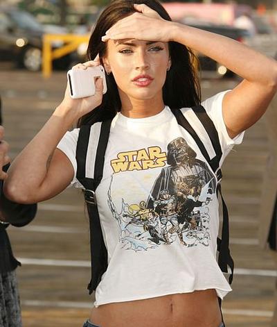 Megan Fox in White T-Shirt