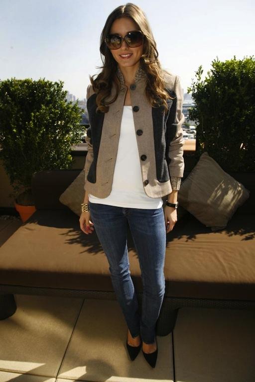 Olivia Palermo in White T-Shirt