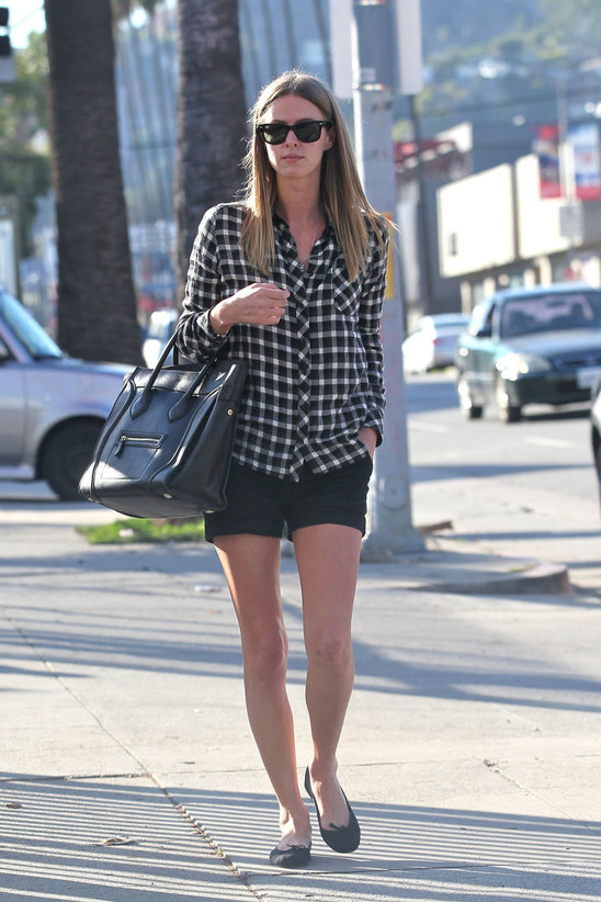 Nicky Hilton '90s Inspired Fashion - Flannel