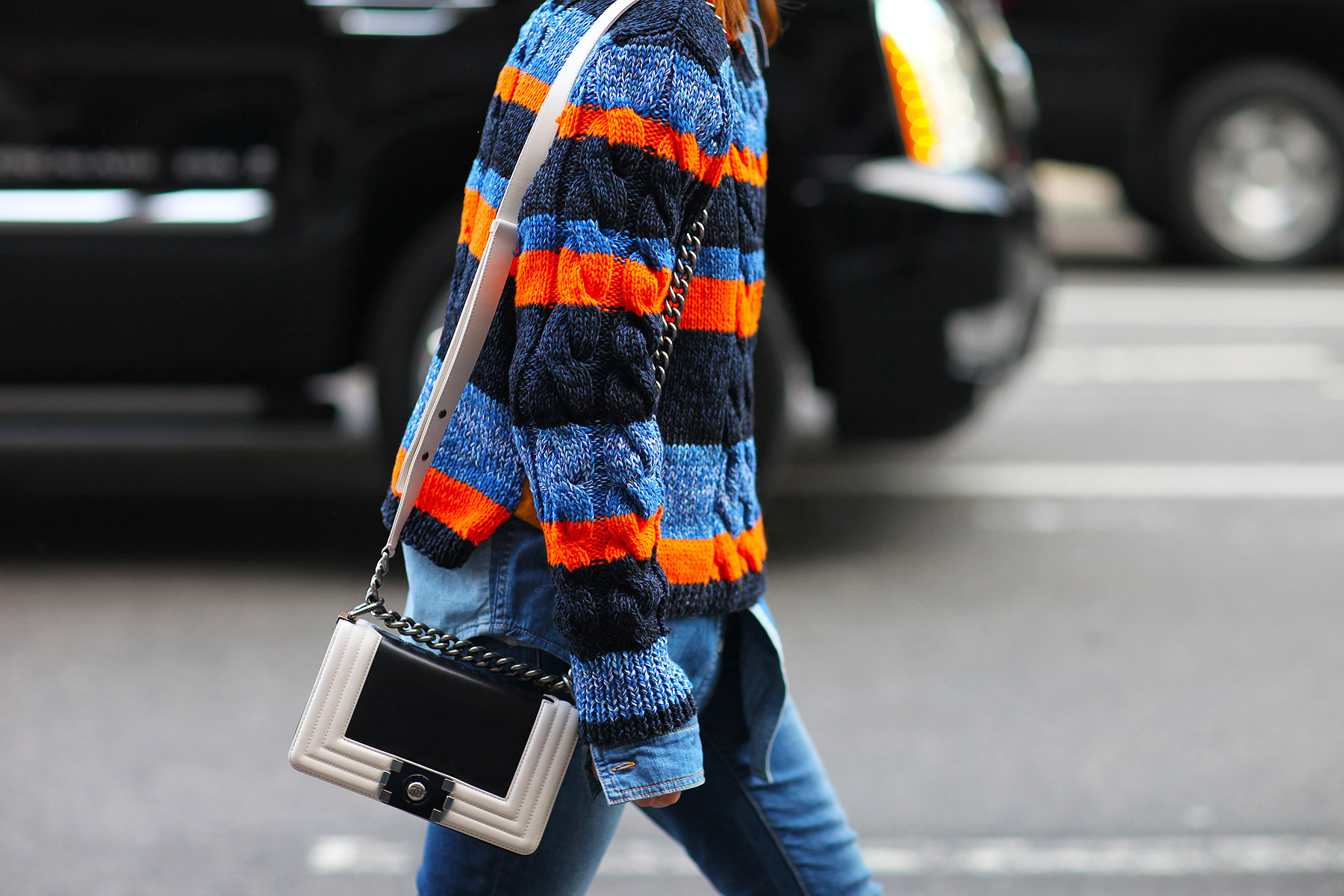 Tommy Hilfiger Sweater, Chanel Bag