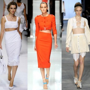 2012 Bare Midriff Trend. Cropped Tops & Bustiers