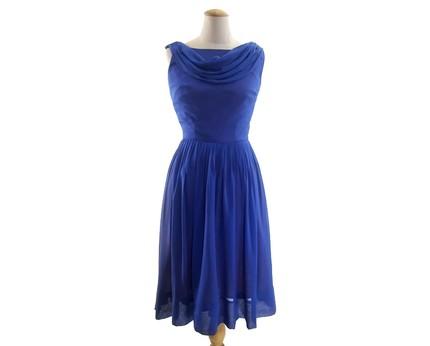 Blue Vintage Chiffon Dress