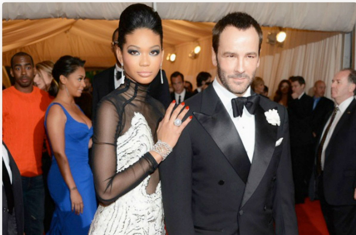 2012 Met Gala - Chanel Iman and Tom Ford