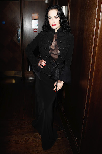 Dita von Teese at Christian Louboutin Afterparty