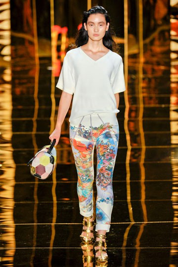 Cynthia Rowley Printed Trousers 2012 Spring/Summer