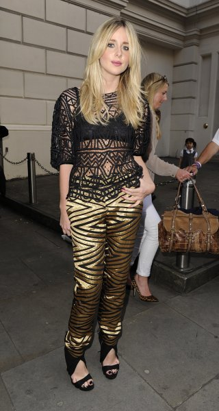 Diana Vickers in statement trousers