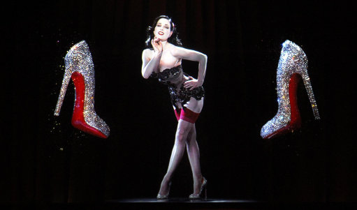 Dita von Teese Hologram - Christian Louboutin Exhibition London 2012