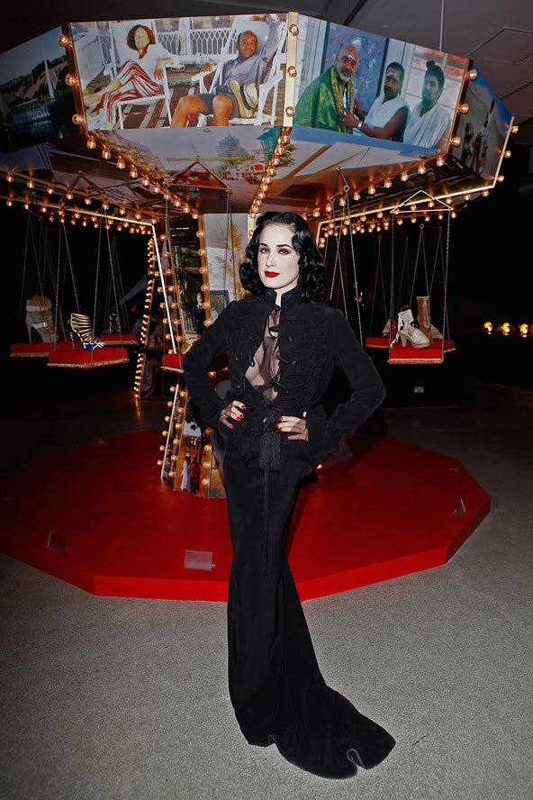 Dita Von Teese at London 2012 Christian Louboutin Exhibition