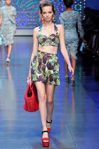 Dolce & Gabbana Spring/Summer 2012 - Cropped Top