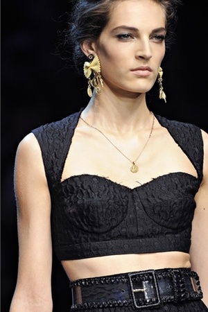 Dolce & Gabbana Spring Summer 2012 - Cropped Top
