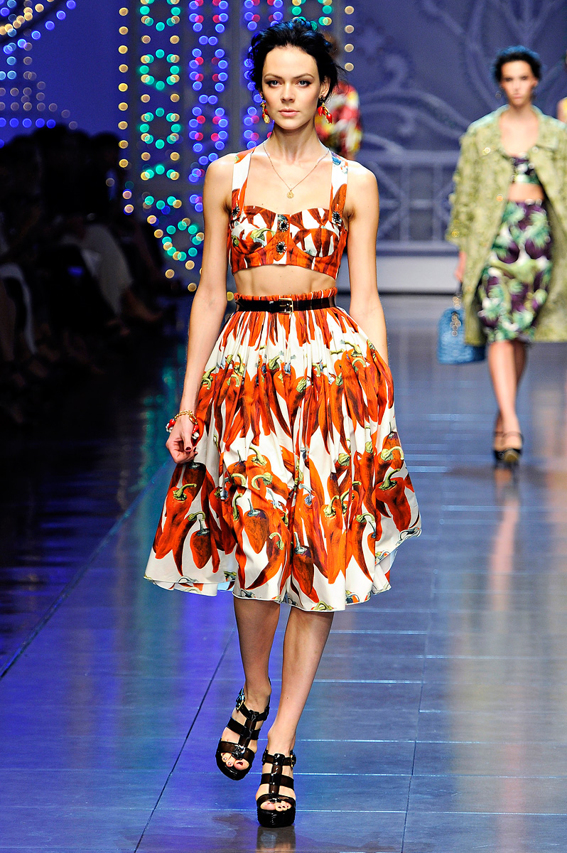 Dolce & Gabbana Spring Summer 2012 Cropped Top