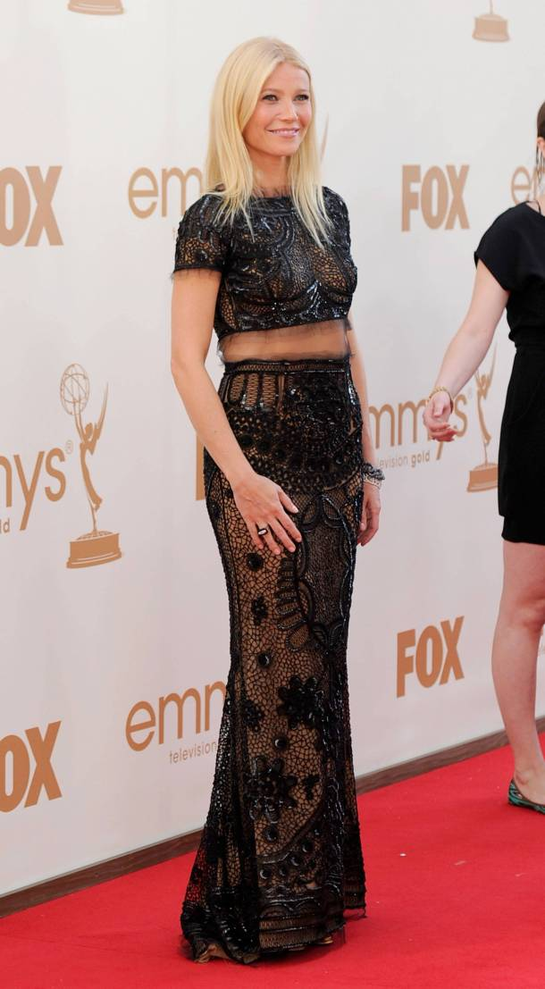Gwyneth paltrow at  Emmy Awards in Bare Midriff