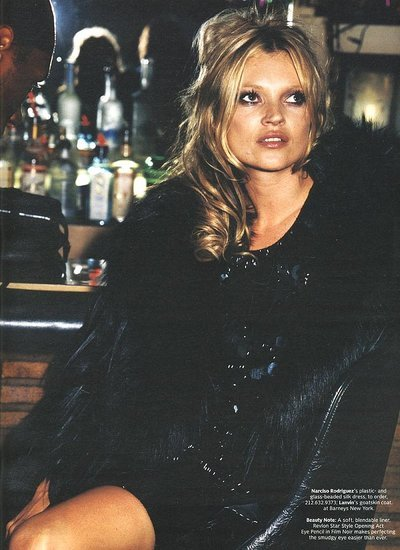 Kate Moss fashion editorial