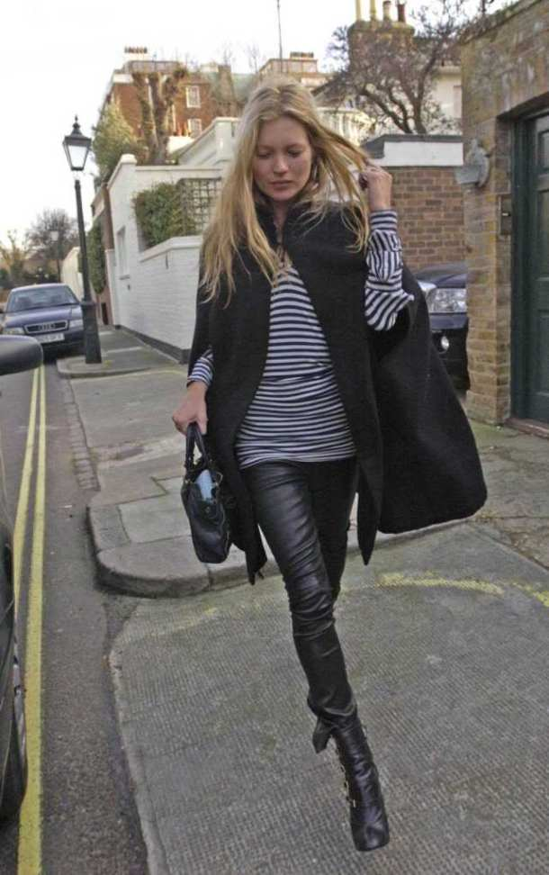 Kate Moss Style Icon - leather trousers