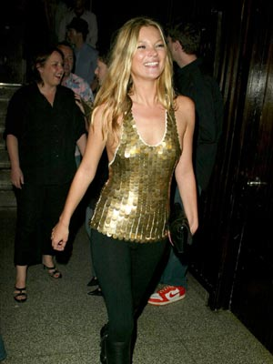Kate Moss Style Icon - gold sequined top