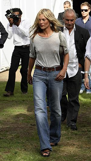 Kate Moss Style Icon  - large high waist jeans