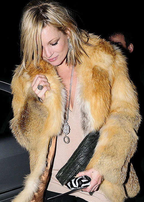 Kate Moss Style Icon  - fur coat