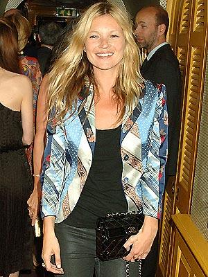 Kate Moss Style Icon  - printed blazer