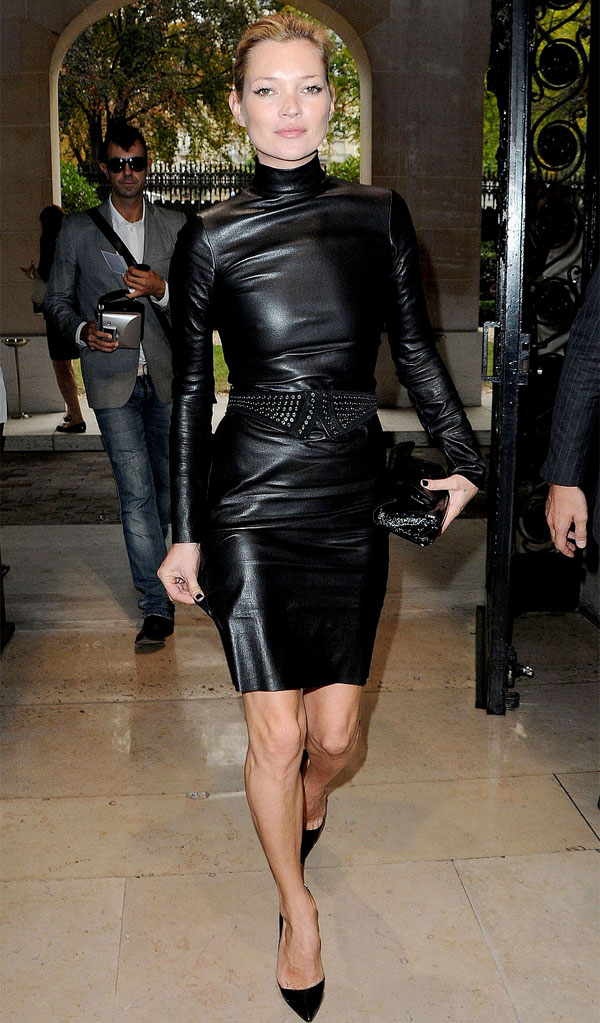 Kate Moss Style Icon - black leather dress
