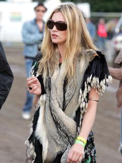 Kate Moss Style Icon - fur vest