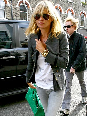 Kate Moss Style Icon - green bag